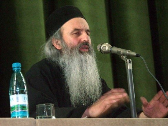 Fr. Rafail Noica talking at orthodox conference in Bucharest - November 2002 (5)