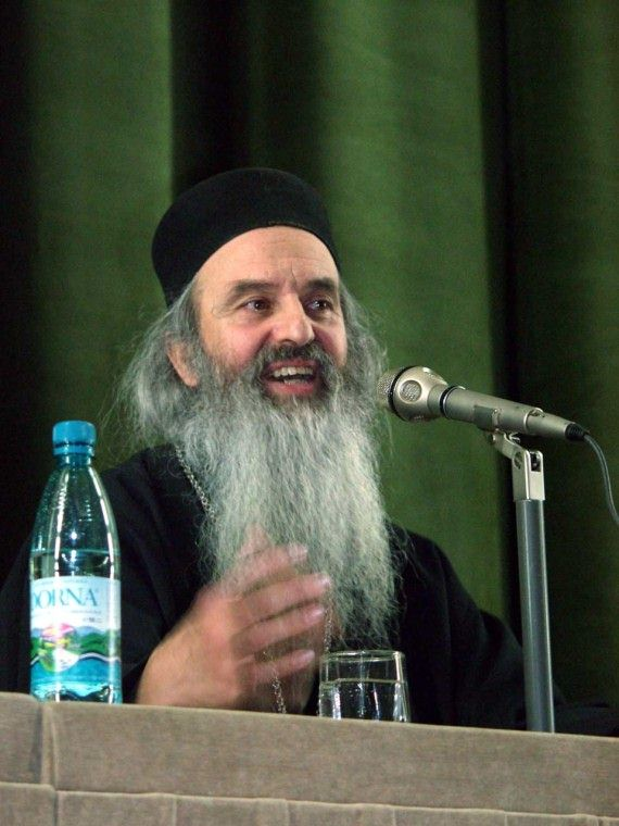 Fr. Rafail Noica talking at orthodox conference in Bucharest - November 2002 (6)