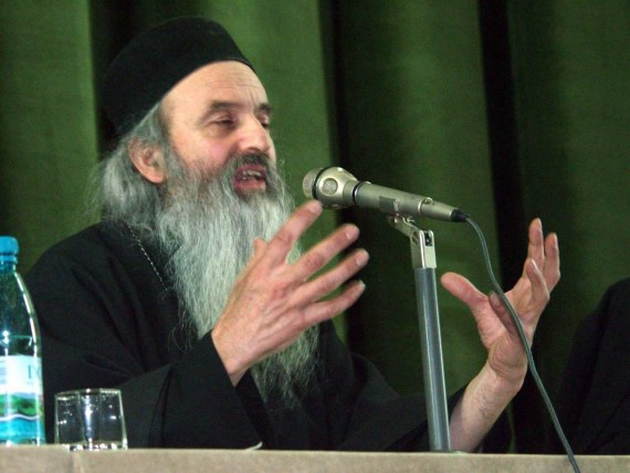 Fr. Rafail Noica talking at religious conference in Bucharest - November 2002(2)