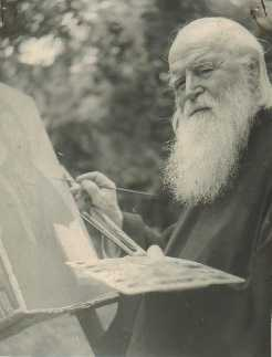 Fr. Sofian painting an icon (1)