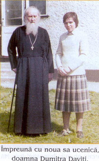 Fr. Sophrony and one of his disciple, Dimitria Daviti