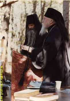 Translating a lecture by Archbishop Anthony at the Saint Herman Summer Pilgrimage, August 1980 (1) - Copyright � The Blessed Seraphim Hermitage