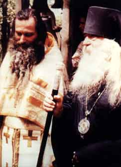 Blessed Seraphim at his ordination to the presbytery with Bishop Nektary, who ordained him - Copyright © The Blessed Seraphim Hermitage