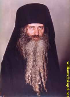 Blessed Seraphim in 1981. This is not a portrait, but was airbrushed to remove most of the original print - Copyright � The Blessed Seraphim Hermitage