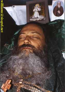 Three days after his repose, showing no rigor mortis or decomposition of any kind. September, 1982 - Copyright � The Blessed Seraphim Hermitage