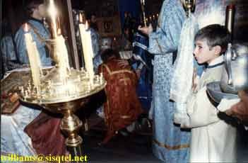 Ordination of Reader Lawrence to the Sub-Diaconate by Archbishop Anthony at Blessed Seraphim's Funeral Liturgy. September 1982 (1) - Copyright © The Blessed Seraphim Hermitage