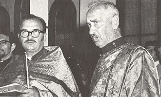 25. Fr Daniel Hubiak, Fr John Nehrebecki, Protodeacon Nicholas Polyanski at the Vigil on Saturday August 8, 1970