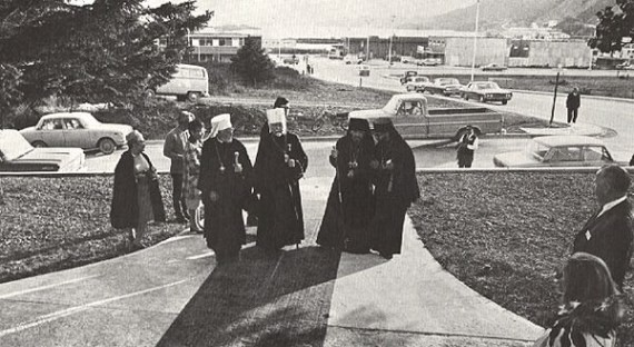 9. The hierarchs walking to church