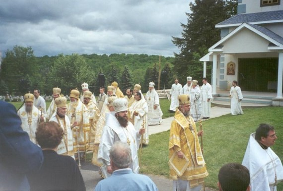 19. Procession and Divine Liturgy - Hierarchs follow the relics of the holy hierarch Raphael of Brooklyn to the site where Liturgy will be held