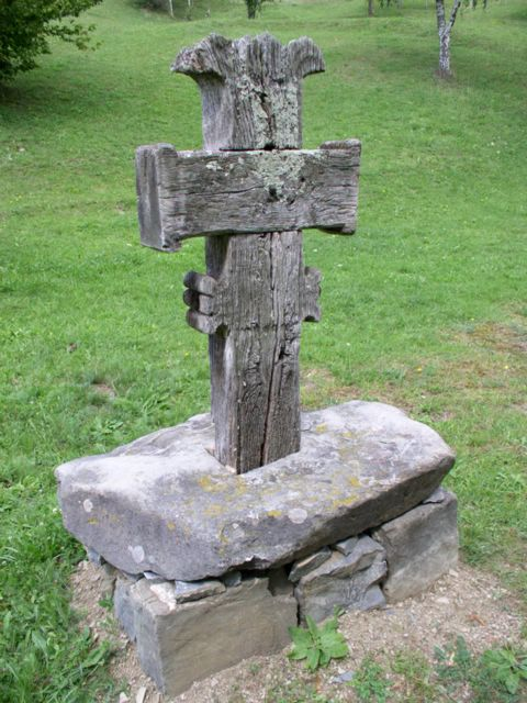 Wooden Cross (moved) - 'Valea Larga' village