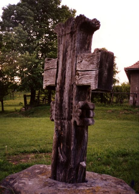 Wooden Cross (school) - 'Valea Larga' village