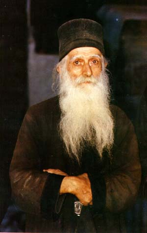 Athonite monk - an icon of harmolypi (joyful mourning)