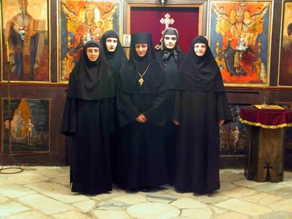 Abbess Katarina with her sisters, Koncul Monastery, Serbia