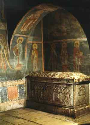 The tomb of Archbishop Daniel - 14th century, Pec, Serbia