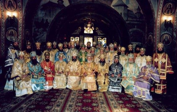 The members of the Holy Synod of the Romanian Orthodox Church (BOR) - March, 2003